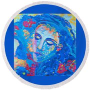 Stuck In A Moment Round Beach Towel