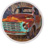 Studebaker - Pickup Truck Round Beach Towel