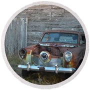 Studebaker Sitting Round Beach Towel