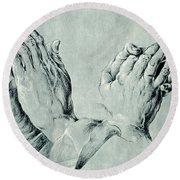 Studies Of Hands Round Beach Towel