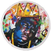 Biggie Smalls Round Beach Towel