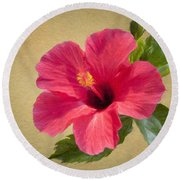 Study In Scarlet Round Beach Towel