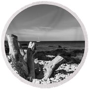 Stumped Round Beach Towel by Russell Keating