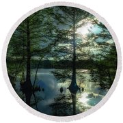 Stumpy Lake Round Beach Towel