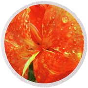 Stunning Canna Lily Round Beach Towel