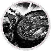 Stunt Bike Round Beach Towel
