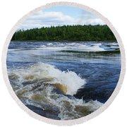 Sturgeon Falls Manitoba Round Beach Towel