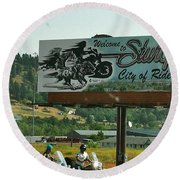 Sturgis City Of Riders Round Beach Towel