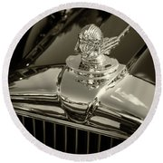 Stutz Hood Ornament Round Beach Towel