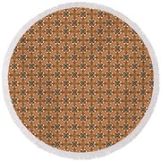 Stylish Moroccan Mosaic Round Beach Towel