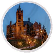 Round Beach Towel featuring the photograph Su College Of Visual And Performing Arts by Rod Best
