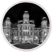 Round Beach Towel featuring the photograph Su Hall Of Languages by Rod Best