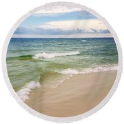 Sublime Seashore  Round Beach Towel