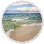 Sublime Seashore  Round Beach Towel