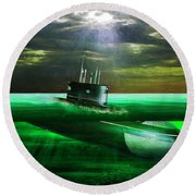Submarine Round Beach Towel