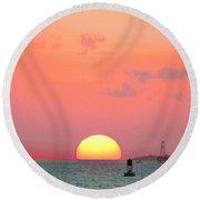 Submerge  Round Beach Towel by Expressionistart studio Priscilla Batzell