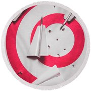 Success And Failures. Business Target Round Beach Towel