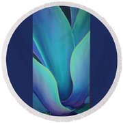 Succulent Embrace Round Beach Towel