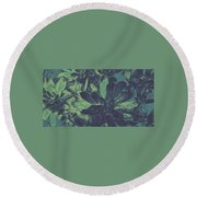 Succulents #2 Round Beach Towel