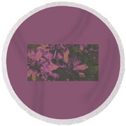 Succulents #3 Round Beach Towel