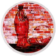 Such Is Life On The Wall Round Beach Towel by Leanne Seymour