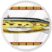 Sucker Ice Fishing Decoy Round Beach Towel