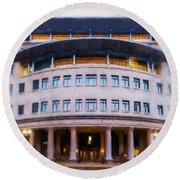 Suffolk Law School Round Beach Towel