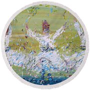 Sufi Whirling Round Beach Towel by Fabrizio Cassetta