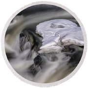 Sugar River Flowing Round Beach Towel