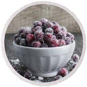 Sugared Cranberries Round Beach Towel