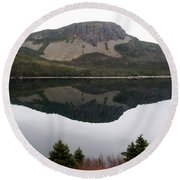 Round Beach Towel featuring the photograph Sugarloaf Hill Reflections by Barbara Griffin