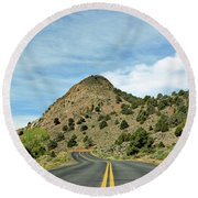 Round Beach Towel featuring the photograph Sugarloaf Mountain In Six Mile Canyon by Benanne Stiens