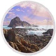 Sugarloaf Rock X Round Beach Towel