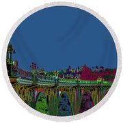 Suicide Bridge 2017 Let Us Hope To Find Hope Round Beach Towel