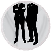 Suits Tv Show Poster Harvey Quote - Winners Don't Make Excuses Round Beach Towel