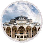 Round Beach Towel featuring the photograph Suleymaniye Mosque by Fabrizio Troiani