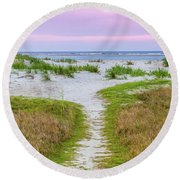 Sullivan's Island Natural Beauty Round Beach Towel