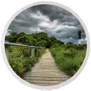 Sullivan's Island Summer Storm Clouds Round Beach Towel