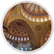 Round Beach Towel featuring the photograph Sultan Ahmed Mosque by Fabrizio Troiani