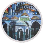 Sultan Ahmed Mosque Istanbul Round Beach Towel