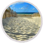 Sultry September Beach Round Beach Towel