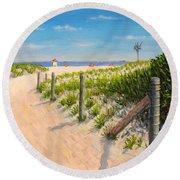 Summer 12-28-13 Round Beach Towel