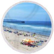 Summer Afternoon Round Beach Towel