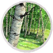 Summer Aspen Round Beach Towel
