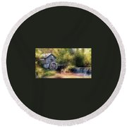 Summer At The Mill Round Beach Towel