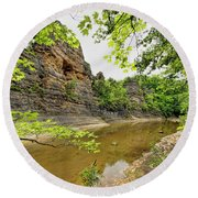 Round Beach Towel featuring the photograph Summer At The Pinnacles by Cricket Hackmann