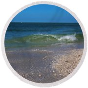 Round Beach Towel featuring the photograph Summer At The Shore by Michiale Schneider