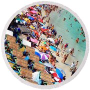 Round Beach Towel featuring the photograph Summer Beach by Beto Machado