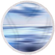 Summer Beach Blues Round Beach Towel