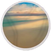 Summer Beach Day  Round Beach Towel